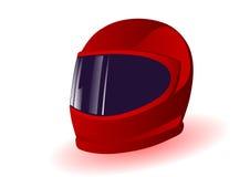 вектор красного цвета иллюстрации шлема Стоковые Фото