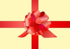 вектор красного цвета подарка смычка Стоковые Фотографии RF
