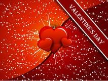 вектор красного цвета сердца Стоковые Изображения RF