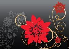 вектор красного цвета цветка Стоковые Фотографии RF