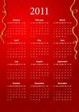 вектор красного цвета 2011 календара Стоковые Изображения
