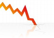 вектор кризиса финансовохозяйственный Стоковое фото RF