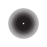 Вектор круга полутонового изображения Стоковые Фото