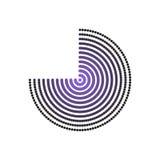 Вектор круга полутонового изображения Стоковая Фотография