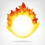 Вектор круга пламени огня изолированный фоном Стоковое Изображение RF
