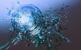 вектор кругов абстрактного искусства голубой Стоковые Изображения RF