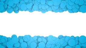 вектор кругов предпосылки искусства голубой Графическая иллюстрация с местом для текста перевод 3d Стоковое Фото