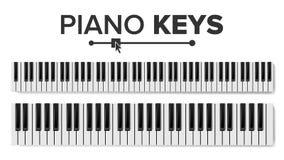 Вектор клавиатур рояля изолированная иллюстрация руки кнопки нажимающ женщину старта s Пусковая площадка клавиатуры взгляд сверху бесплатная иллюстрация