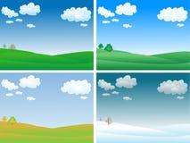 вектор ландшафта Стоковые Изображения