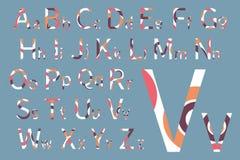 вектор латыни индикатора иллюстрации алфавита Дизайн шрифта концепции вектор иллюстрации самомоднейший Стоковые Фото