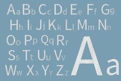 вектор латыни индикатора иллюстрации алфавита Дизайн шрифта концепции вектор иллюстрации самомоднейший Стоковое Изображение