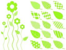 вектор листьев иконы Стоковые Фото