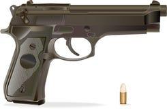 вектор личного огнестрельного оружия бесплатная иллюстрация