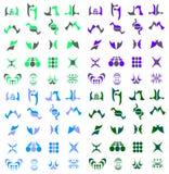 вектор логоса иконы собрания установленный Иллюстрация вектора