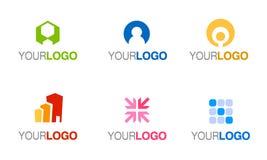 вектор логоса компании установленный иллюстрация штока