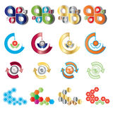 вектор логоса цвета установленный Стоковые Фото