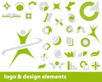 вектор логоса элементов Стоковые Фото