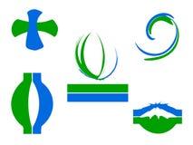 вектор логоса элементов Стоковое Изображение