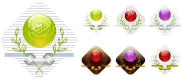 вектор логосов собрания Стоковые Изображения RF