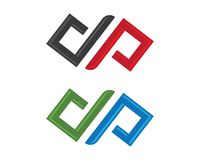 Вектор логотипа безграничности Стоковое Фото