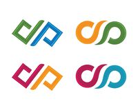 Вектор логотипа безграничности Стоковое Изображение