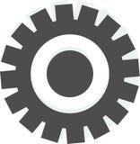 Вектор логотипа шестерни на белой предпосылке иллюстрация вектора