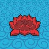 вектор лотоса цветка Стоковые Фотографии RF