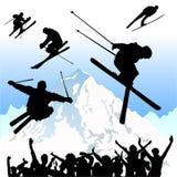 вектор лыжи Стоковые Изображения