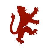 вектор льва heraldry Стоковая Фотография RF