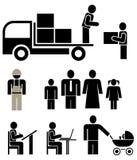 вектор людей установленный pictograms Стоковое Изображение