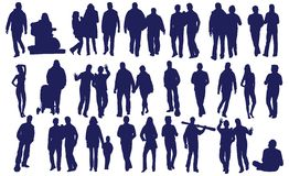 вектор людей Стоковые Фотографии RF