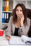 вектор людей jpg иллюстрации дела Портрет женщины в офисе Красивое Confiden Стоковые Фотографии RF
