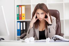вектор людей jpg иллюстрации дела Портрет женщины в офисе Красивое Confiden Стоковые Изображения RF