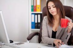 вектор людей jpg иллюстрации дела Портрет женщины в офисе Красивое Confiden Стоковое Изображение RF