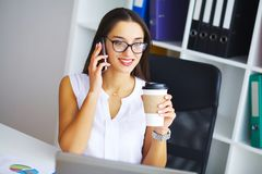 вектор людей jpg иллюстрации дела Портрет женщины в офисе Стоковое Изображение RF