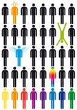 вектор людей иконы установленный Стоковые Фотографии RF