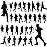 вектор людей идущий Стоковое Изображение RF