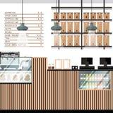 Вектор магазина хлебопекарни Стоковая Фотография