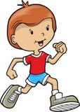 вектор мальчика идущий Стоковое Изображение