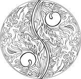 Вектор мандалы ДАО расцветки Стоковые Фото