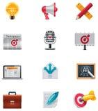 вектор маркетинга иконы установленный Стоковое фото RF