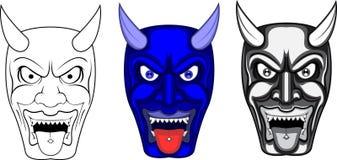 Вектор маски демона Стоковое Фото