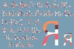 вектор матрицы индикатора иллюстрации алфавита голубой cyrillic Дизайн шрифта концепции Современное illustrat вектора Стоковое Фото