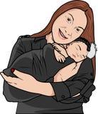Вектор - мать и младенец Иллюстрация штока