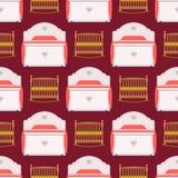 Вектор мебели спать конструирует комнаты кровати спальни квартиру релаксации исключительной внутренней удобную домашнюю безшовную бесплатная иллюстрация