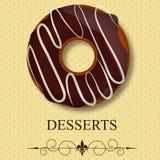 вектор меню десерта Стоковое Изображение