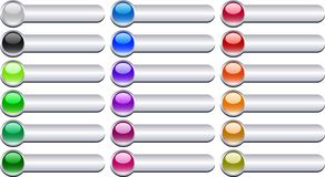 вектор металла кнопок Стоковые Фото