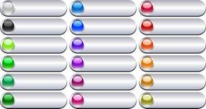 вектор металла кнопок Стоковое Изображение