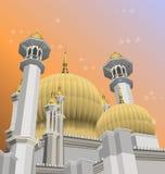 Вектор мечети Стоковые Изображения