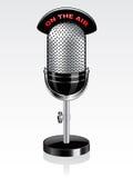 вектор микрофона ретро иллюстрация штока